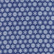 Navy Flakes Folk Art Holiday Fabric - per quarter metre